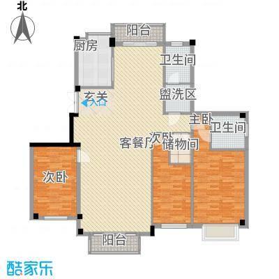 悦泰御景花园176.00㎡悦泰御景花园3室户型3室