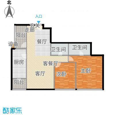 时代广场149.88㎡时代广场户型图149.88㎡户型2室2厅2卫1厨户型2室2厅2卫1厨