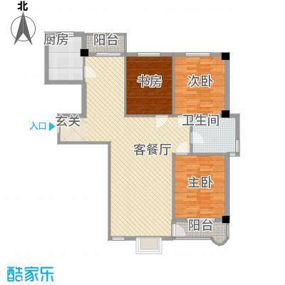 锦府桃源114.00㎡锦府桃源3室户型3室