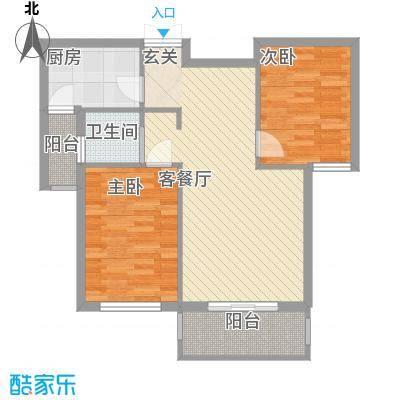 北京公园77.21㎡北京公园户型图3号楼D2户型2室2厅1卫1厨户型2室2厅1卫1厨