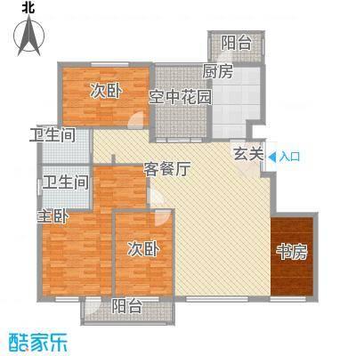 北京公园149.26㎡北京公园户型图7号楼H1户型4室2厅2卫1厨户型4室2厅2卫1厨