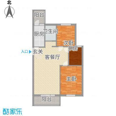 北京公园101.30㎡北京公园户型图16号楼F3户型3室2厅1卫1厨户型3室2厅1卫1厨