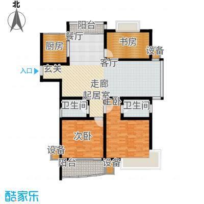 龙城花园144.82㎡龙城花园户型图7#/8#楼甲013室2厅2卫1厨户型3室2厅2卫1厨
