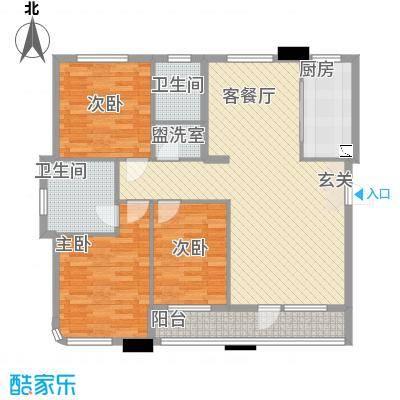 绿城苑3室户型3室2厅2卫1厨