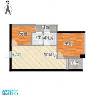 警备区龙华公寓61.00㎡警备区龙华公寓2室户型2室