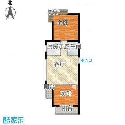 赛维利大厦户型图阳光舞姿 2室1厅1卫1厨