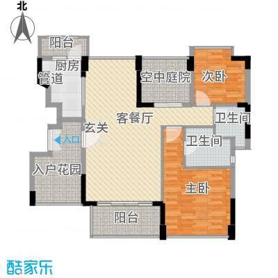 宏发美域116.00㎡11栋2单元-01/02户型2室2厅2卫