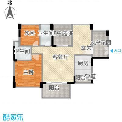 宏发美域115.00㎡1栋4单元-01户型2室2厅2卫