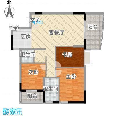 警备区龙华公寓113.00㎡警备区龙华公寓3室户型3室
