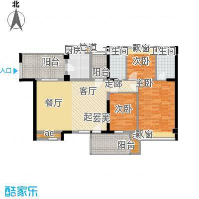 潜龙曼海宁二期121.40㎡潜龙曼海宁二期户型图偶数层122平户型图3室2厅2卫1厨户型3室2厅2卫1厨