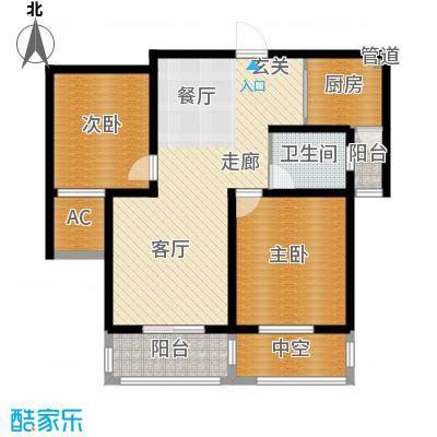 景城名轩92.39㎡A1-03户型2室2厅1卫1厨