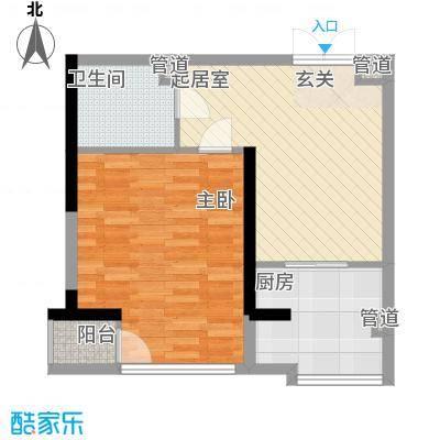 颐和香榭65.00㎡颐和香榭户型图户型图1室1厅1卫1厨户型1室1厅1卫1厨