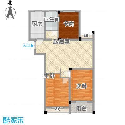 金色湖滨110.45㎡金色湖滨户型图8#楼C户型3室2厅1卫1厨户型3室2厅1卫1厨