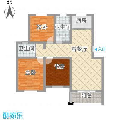 名城景园116.69㎡名城景园户型图2-甲-023室2厅2卫1厨户型3室2厅2卫1厨