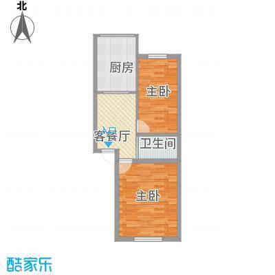富通城五期86.00㎡富通城五期2室户型2室