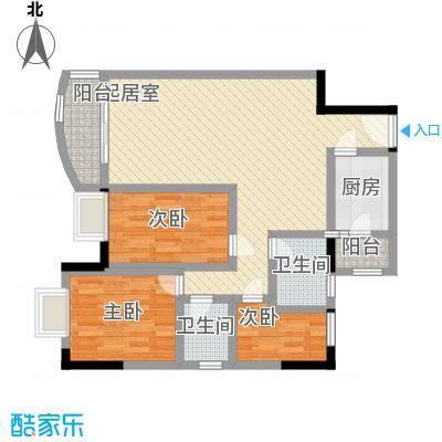 中南花园101.55㎡深圳中南花园户型图4户型10室