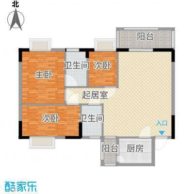中南花园116.88㎡深圳中南花园户型图3户型10室