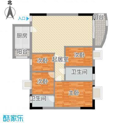 中南花园80.28㎡深圳中南花园户型图5户型10室