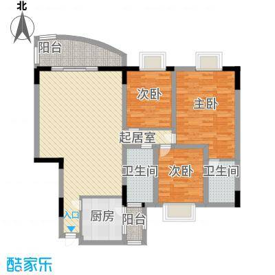 中南花园107.44㎡深圳中南花园户型图2户型10室