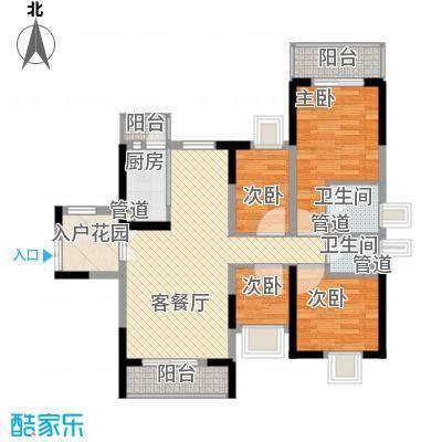 宝兴花园100.00㎡宝兴花园3室户型3室