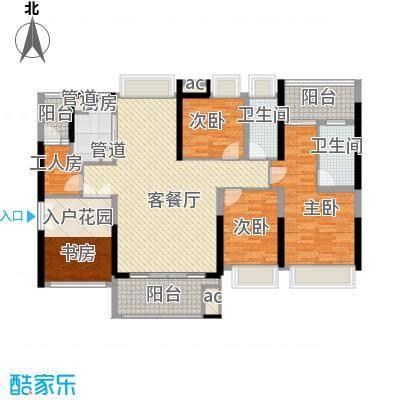 锦绣御园户型图二期5栋B户型 5室2厅2卫1厨