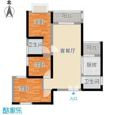 宝兴花园102.00㎡宝兴花园3室户型3室