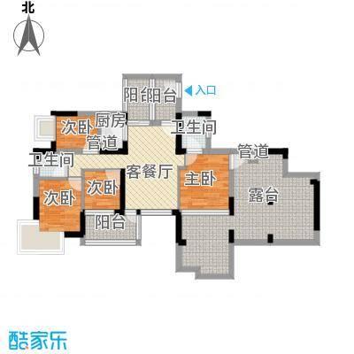 宝城花园103.00㎡宝城花园4室户型4室