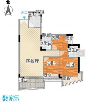 东和花园102.00㎡东和花园3室户型3室