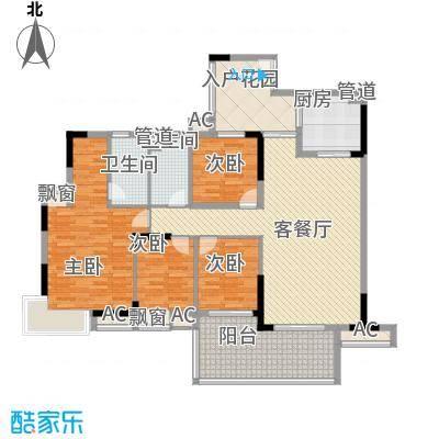 第五大道185.00㎡第五大道4室户型4室