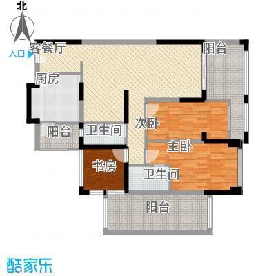 后海雅园89.00㎡C座B户89平户型3室2厅2卫1厨