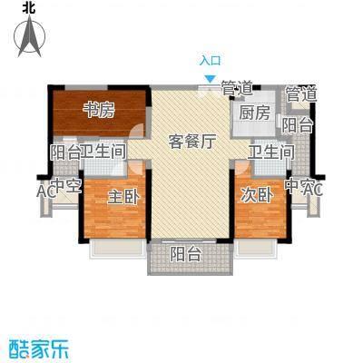 绿海湾花园116.43㎡绿海湾花园户型图D座2单元02户型2室2厅2卫1厨户型2室2厅2卫1厨