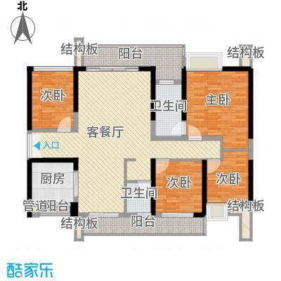 绿海湾花园133.59㎡绿海湾花园户型图B座01户型4室2厅2卫户型4室2厅2卫