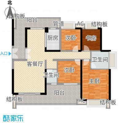 绿海湾花园137.13㎡绿海湾花园户型图A座1单元01户型3室2厅2卫1厨户型3室2厅2卫1厨