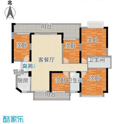 绿海湾花园158.84㎡绿海湾花园户型图C座01户型5室2厅2卫1厨户型5室2厅2卫1厨