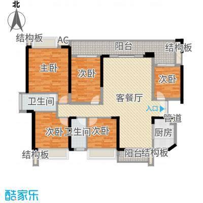 绿海湾花园152.43㎡绿海湾花园户型图B座03户型5室2厅2卫户型5室2厅2卫