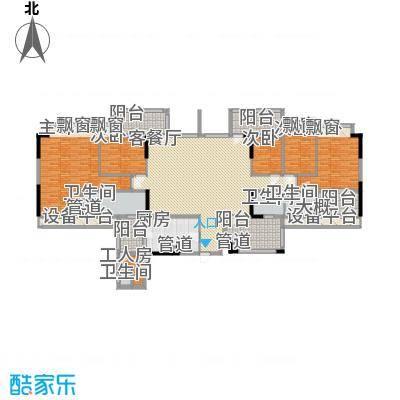 懿花园(和黄)176.00㎡C1栋02、03座C户型;C2栋01、02座C户型5室2厅4卫1厨