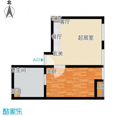 新世界名泷65.66㎡新世界名泷户型图东塔S2户型1室1厅1卫户型1室1厅1卫