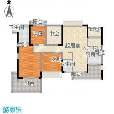 溪山别墅溪山别墅户型图一期12栋A、B单元5-23层奇数层户型10室