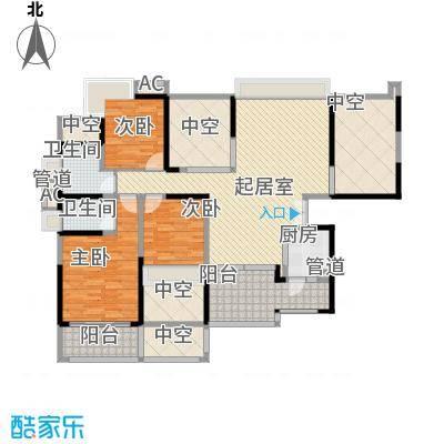 龙岸花园别墅龙岸花园别墅户型图2期4栋A+B双湖大宅06-26层偶数层户型10室