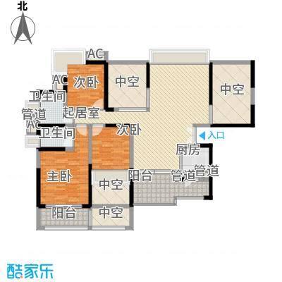 龙岸花园别墅龙岸花园别墅户型图2期5栋A+B双湖大宅06-26偶数层户型10室