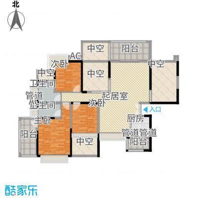 龙岸花园别墅龙岸花园别墅户型图2期4栋A+B双湖大宅05-25层奇数层户型10室