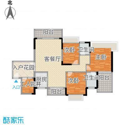 中环花园二期99.00㎡中环花园二期3室户型3室