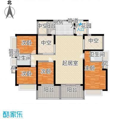 龙岸花园别墅龙岸花园别墅户型图3栋D+E5-27奇数层户型10室