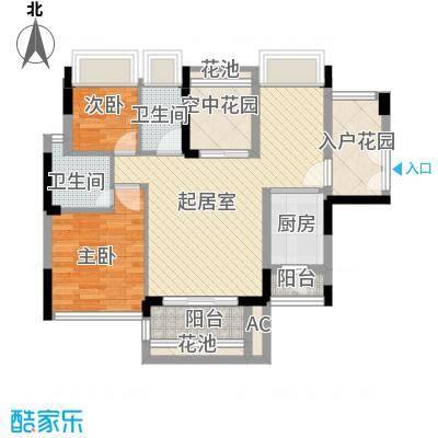 高正豪景花园90.00㎡高正豪景花园3室户型3室