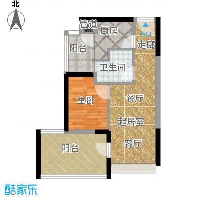 华侨新苑45.00㎡华侨新苑1室户型1室