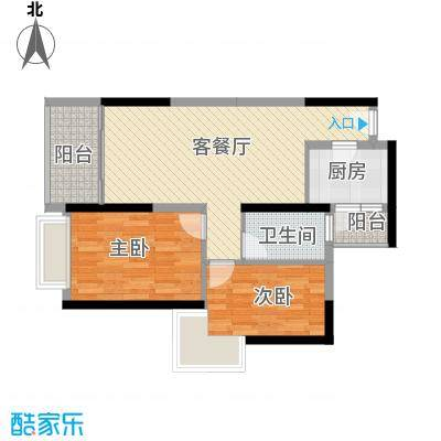 华侨新苑65.00㎡华侨新苑2室户型2室