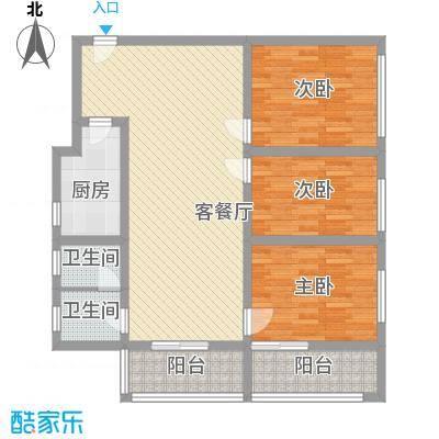 长春花园120.00㎡长春花园3室户型3室