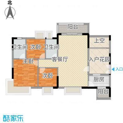 中环花园三期98.00㎡中环花园三期3室户型3室