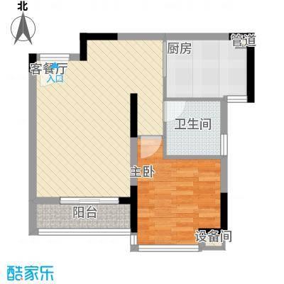 翠湖茗苑nEO_IMG_3号楼M户型4号户型1室2厅1卫1厨