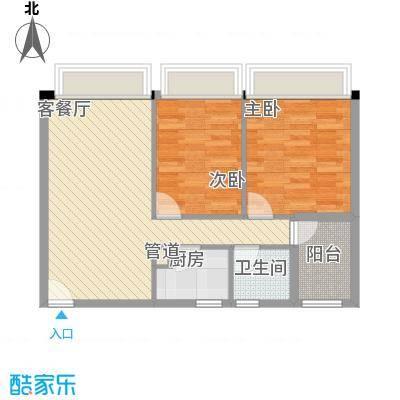 华侨新村75.00㎡华侨新村2室户型2室